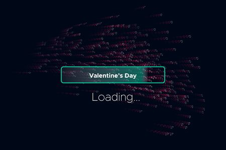 Vektor für Progress bar with lot of Hearts scattering on. Download Love Valentines Day. Loading animation screen with confetti shows almost reaching Loving. Creative festive Spring banner with progress bar - Lizenzfreies Bild