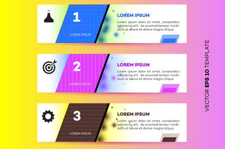 Layered Horizontal Infographic Steps : Royalty-free vector