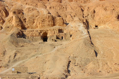 View over the Valley of Kings near Luxor, Egypt