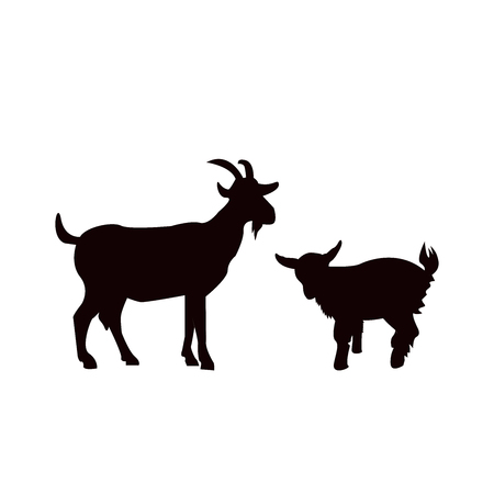 Illustrazione per goat animal farm icon isolated on white background. - Immagini Royalty Free