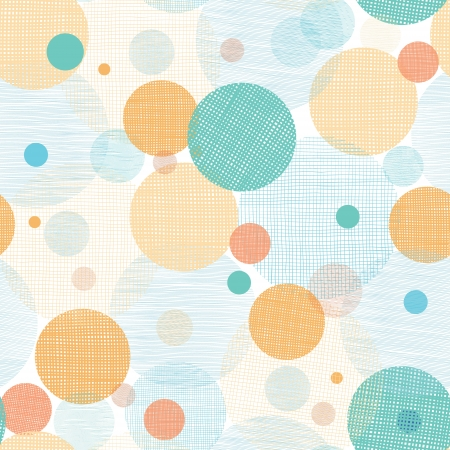 Fabric circles abstract seamless pattern background