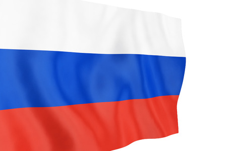 Russian flag on a white background