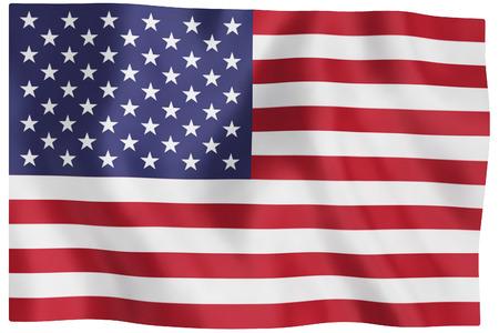 usa flag on white background