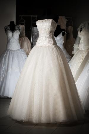 Photo pour Wedding dress shop with many objects - image libre de droit
