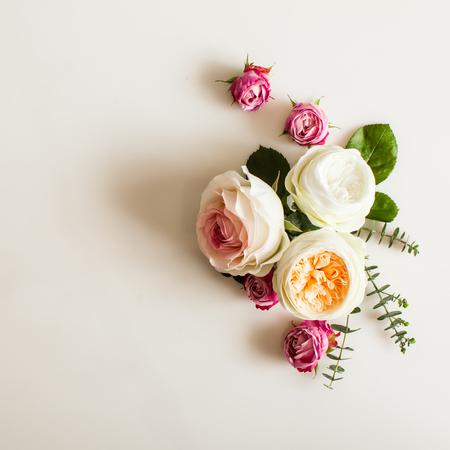 Photo pour Floral wedding frame - image libre de droit