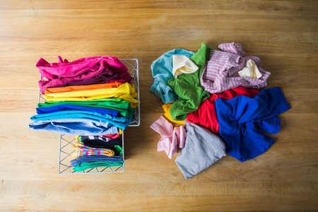 Photo pour Zero waste wardrobe concept or mindful consuption - image libre de droit