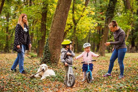 Photo pour Laisure time at the forest during pandemic - image libre de droit