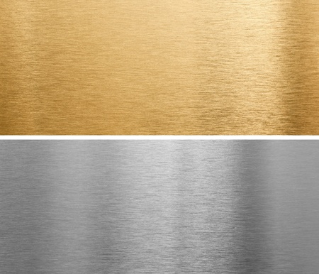 Photo for aluminium and brass metal plates - Royalty Free Image