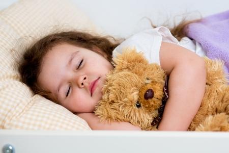 kid girl sleeping