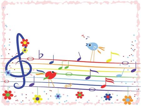 Music rainbow,frame
