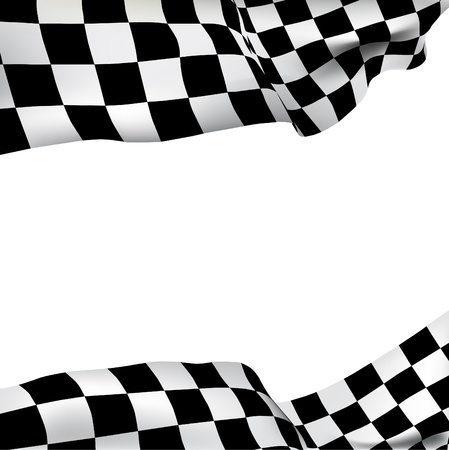 Illustration for Vector background checkered flag with space for your text   - Royalty Free Image