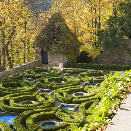 gardens around Ksiaz Castle in Walbrzych, Poland