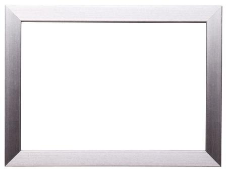 Foto de Classic silver frame isolated on white background - Imagen libre de derechos