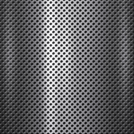 Metal mesh with small holes background or texture