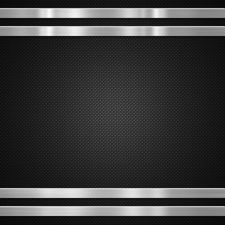 Photo for Metal bars on carbon fibre background or texture - Royalty Free Image