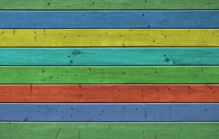 Wall of pine multicolor wood board. Lining closeup, frontally.