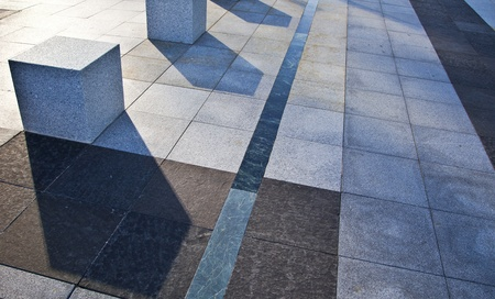 Urban landscape  Paving business areas of Madrid