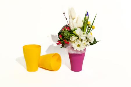 休日の花束組成の花、春の結婚式...