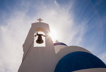Photo for Ayia Thekla (Saint Thecla) orthodox church near of Ayia Napa and Cavo Greco, Cyprus island, Mediterranean Sea. Bright sunny day. - Royalty Free Image