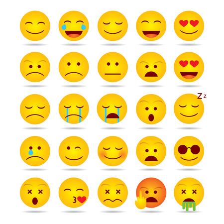 Illustration for Set of Emoji isolated illustration on white background - Royalty Free Image