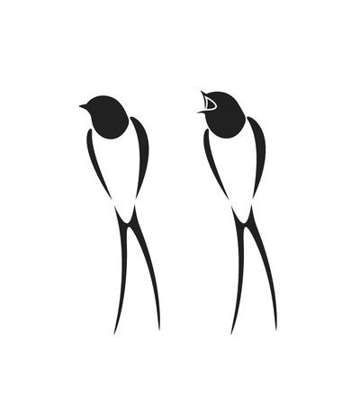 swallow logo isolated swallow on white backgroun bird royalty free vector graphics swallow logo isolated swallow on white