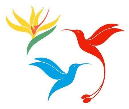 Illustration pour Hummingbird logo. Isolated hummingbird on white background - image libre de droit