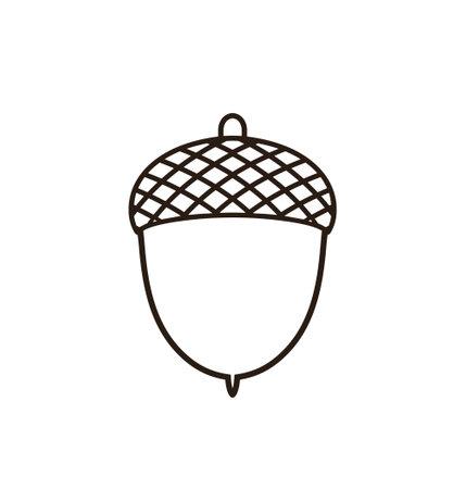 Illustration pour Acorn outline - image libre de droit