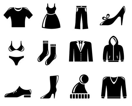 Ilustración de Clothing icon set - Imagen libre de derechos