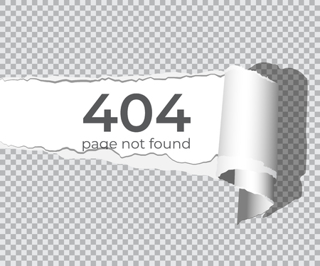 404 page not found concept. Vector design element.