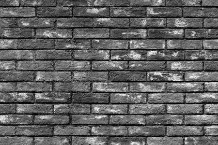 Foto de Background of old vintage brick wall texture, black and white - Imagen libre de derechos