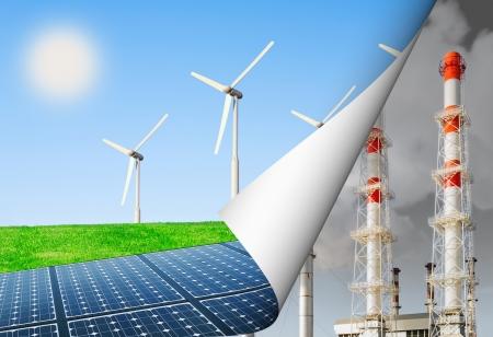Photo pour  alternative energy and the environment, energy production update - image libre de droit