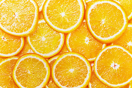 Fresh Natural background with Orange Sliceの写真素材