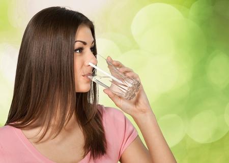 Water, Drinking, Women.