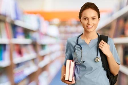 Photo pour Nurse, Student, Education. - image libre de droit