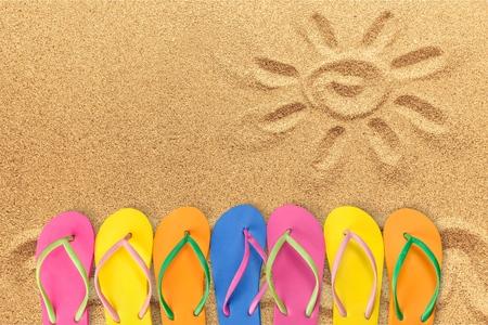 Summer, Flip-flop, Fun.