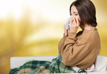 Photo pour Flu, cold, woman. - image libre de droit