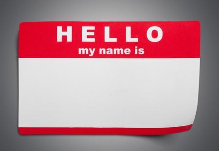 Photo pour Identity, Name Tag, Hello. - image libre de droit