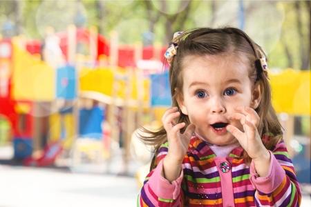 Photo pour Child, Excitement, Ecstatic. - image libre de droit