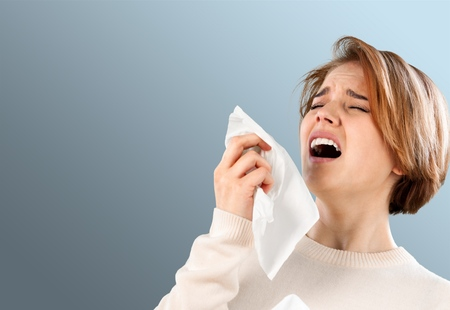 Sneezing, Allergy, Cold And Flu.