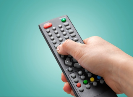 Photo for Remote Control, Television, Entertainment Center. - Royalty Free Image