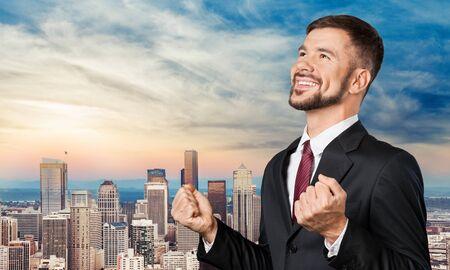 Win, business, businessman.