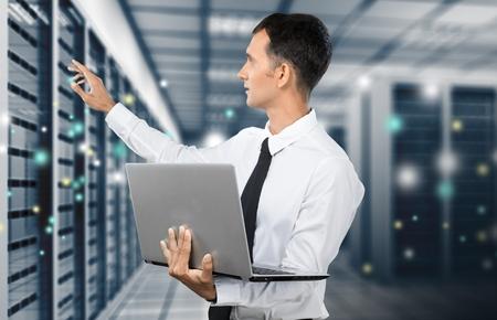 Photo pour Technology, Network Server, Data. - image libre de droit