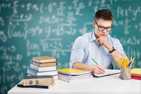 Student, studying, human.
