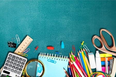 Photo pour School, back, blackboard. - image libre de droit