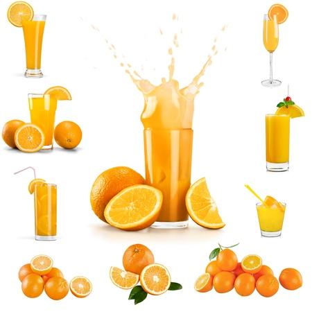 Photo pour Orange Juice, Juice, Splashing. - image libre de droit