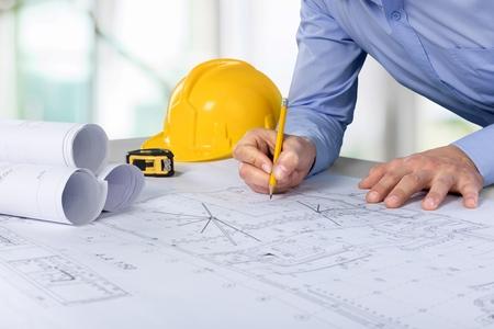 Photo pour Architect, engineer, designer. - image libre de droit