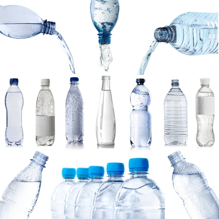 Photo pour Water Bottle isolated on white - image libre de droit