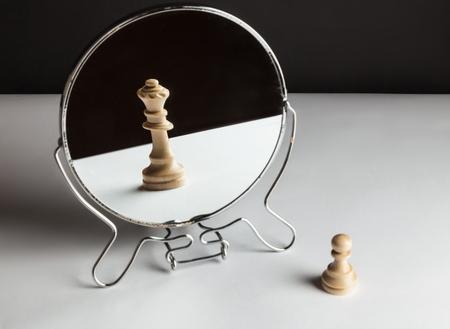 Photo pour Chess in mirror. - image libre de droit