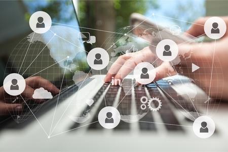 Photo pour Network digital technology concept - image libre de droit