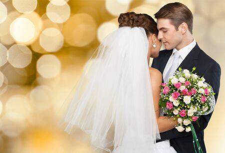 Foto de Pink Wedding Portraits - Imagen libre de derechos